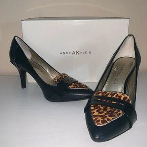 Anne Klein iflex Black and Leopard Heels